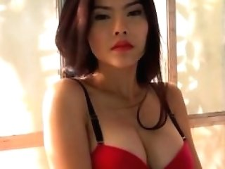 Asian Woman  Undress Taunting And Playing With Her Playthings