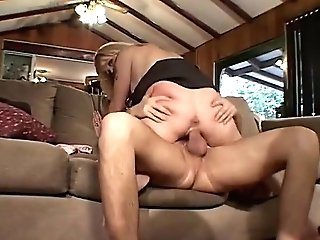 Blonde Cougar In Stocking Fucks On Sofa (my Edit)