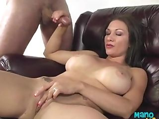 Matures Brown-haired Gives A Hand Jobs And Gets Jism On Her Arm