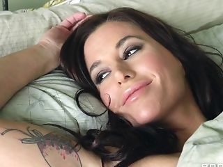 Magnetic, Tattooed Dark Haired With Hefty Tits, And Purple...