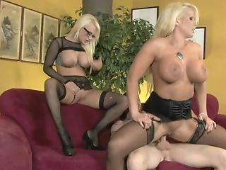 Cool Threesome Fucking With His Gf's Mom