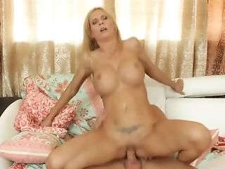 Big Boobed Blondie Takes Off Her Sexy Undergarments And Fucks A...