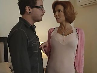 Beautiful Cougar With Crimson Hair And Big Faux Tits Is Lovin' A...