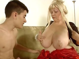 Old Lady Breastfeeds Youthful Boy And Then Has Intercourse With Him