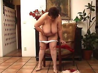 Matures Ginger-haired Milky Woman On The Tabouret Pokes Herself...