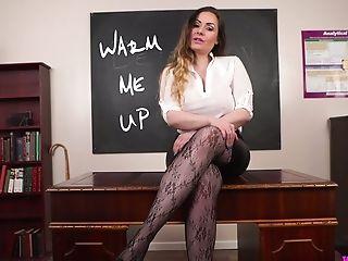 Lewd Bosomy Educator Sophia Delane Gives A Point Of View Handjob...