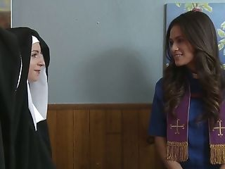 Sinful Nuns Get Nasty And Love Having First-ever Sultry...