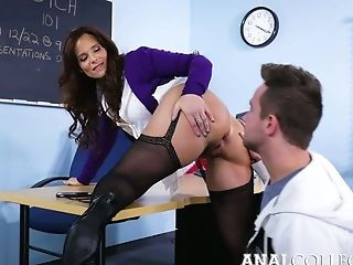 Lewd Lecturer With Big Milk Cans Syren De Mer Revved To Be...