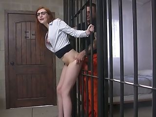 Hot Ginger Mummy In Glasses Maya Kendrick Is Fucked By Horny Prisoner