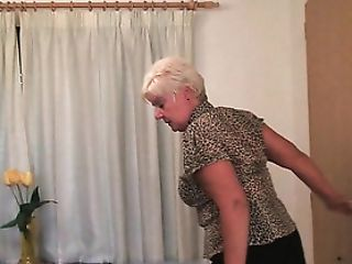 Utter Figured Granny Masturbates With A Faux-cock