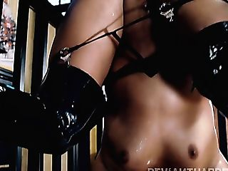 After Being Locked In A Cell Whore Lana Violet Has To Rail Strong...