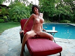 Solo Outdoors Movie Of Big-boobed Matures Diana Prince Playing By...