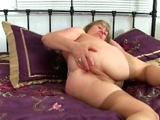 Brit Granny Trisha Loves Fucking A Faux-cock