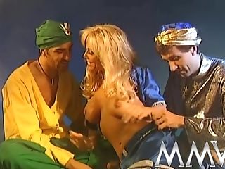 Big-titted Blonde Mom Gets Group-fucked Dirtily By Two Horny Arabic...
