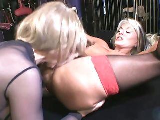Exotic Matures Blonde Tart In Sheer Bodysuit And Glasses Tastefully...