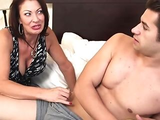 Matures Mom Caught Sonny's Friend Jacking Off And Fucks Him.