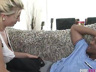 Beauty Blonde With Big Bum Fuck Big Black Cock