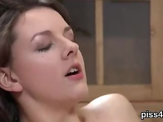 Lovable Lesbo Sweeties Get Sprayed With Piss And Squirt Moist Cunts