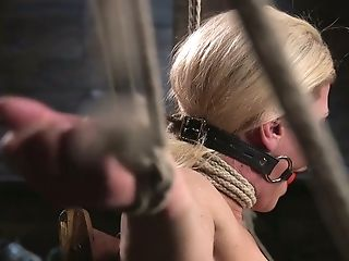 Sizzling Blonde Ariel X Is Disciplined Hard In The Dark Room