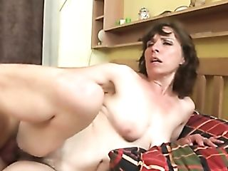 Mommy Groans With A Hard Man Sausage In Her Hairy Cunt