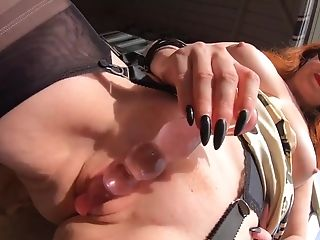 Super-naughty Matures Crimson Xxx Plays With Her Fresh Glass Fake...