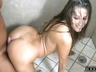 Horny Mummy Having Joy In The Bathroom In Real Pornography Movie