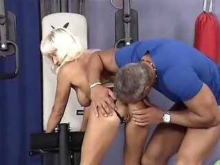 German Muscle Mom Intercourse Training