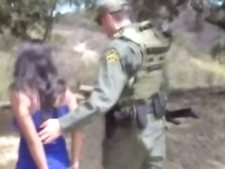 Faux Border Agent Tempts Gorgeous Civilian Woman And Fucks Her...