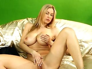 Enticing Stunner With Big Tits Shows Her Cooter On The Camera