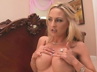 Beautiful Blonde Gets Her Tits Fucked By Her Boos Than He Gasps Her...
