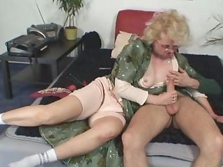 Granny Gets Him Excited With Assets