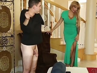 Youthful Man Blackmails His Huge-boobed Stepmother To Fuck With Her...