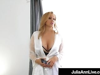 Step-mom Julia Ann Stuffs Her Muff With Step-sonnie's Salami!