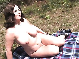 Outdoor Pornography With A Granny
