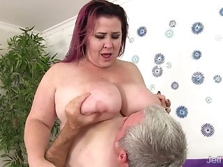 Fat Matures Red-haired Lady Lynn Gets Railed
