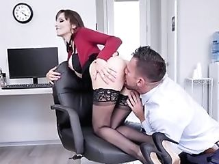 Fuck The Big-titted Assistant And Geyser Her Cunt With Sperm