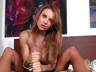 Janet Mason Gives Her Man A Tugjob!