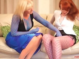'crimson Xxx And Her Gf Fuck While Wearing Nylons'