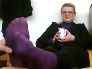 Matures Smelling Feet