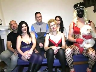 A Crazy Orgy Including A Cross Dresser Goes On All Over The Building