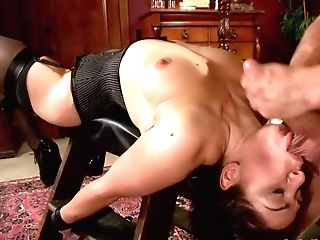 Raven Haired Stunner In Sexy Stockings Needs A Hard Pecker