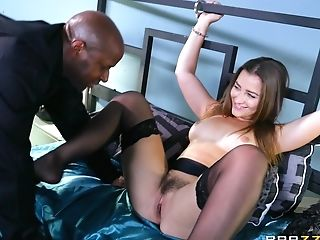 Dame With A Big Butt Pridefully Buries A Massive Black Dick Inwards...