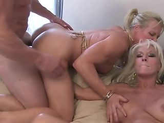 Two Matures Blonde's With Big Tits Determine To Share A Big...