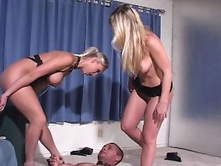 Blondes Are Brutal When Throttling And Stepping On Their Obedient...