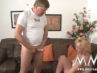 Horny Blonde Matures In Glasses Gets Doggystyled Badly And Mouthfucked
