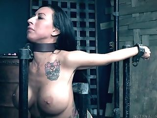 Giant Titted Tattooed Mummy Lily Lane Gets Tied Up And Masturbated