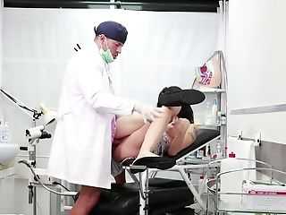 Lewd Spanish Chick Debora Mendez Gets Baps Checked And Slit Fucked...