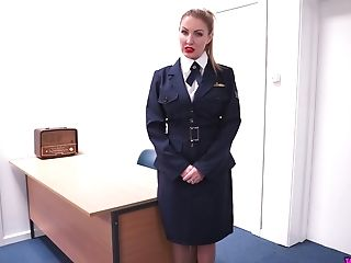 Big Tittied Mummy Tales Off Sexy Uniform And Masturbates Raw...