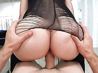 Giant Bottomed Sexpot With Fleshy Knockers Serena Skye Rails Fat Prick