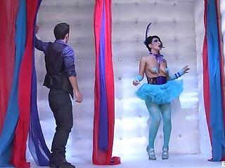 Sophia Bella In Ultra-kinky Garment Gives Head Thru Gloryhole And...